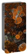 Pumpkin Abstract Square Portable Battery Charger