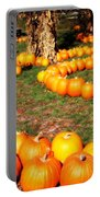 Pumpkin Patch Path Portable Battery Charger by Carol Groenen