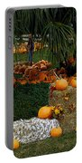 Pumpkins Under The Palms Portable Battery Charger