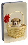Puppy In A Basket Portable Battery Charger