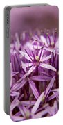 Purple Allium Christophii Macro Portable Battery Charger