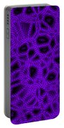 Purple And Blue Abstract Portable Battery Charger