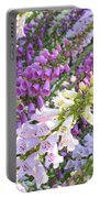 Purple And White Foxglove Square Portable Battery Charger