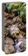 Purple Artichokes At The Market Portable Battery Charger