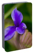 Purple Bromeliad Flower Portable Battery Charger