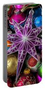 Purple Christmas Star Portable Battery Charger