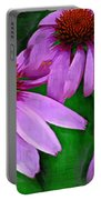 Purple Coneflower Trio Portable Battery Charger