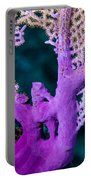 Purple Coral Portable Battery Charger