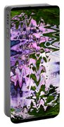 Purple Daisies World - Abstract Art Portable Battery Charger