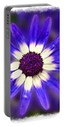 Purple Daisy Photoart Portable Battery Charger