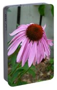Purple Echinacea Portable Battery Charger