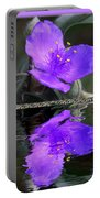 Purple Elegance - Spider Wort Portable Battery Charger