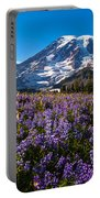 Purple Fields Forever Portable Battery Charger