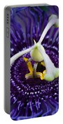 Purple Flower 3 Portable Battery Charger