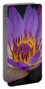Purple Water Lily Portable Battery Charger