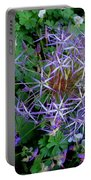 Purple Flower Sphere Portable Battery Charger