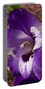 Purple Gladolia Portable Battery Charger