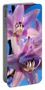 Purple Hosta Blooms Portable Battery Charger