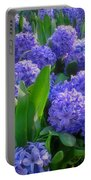Purple Hyacinths Portable Battery Charger