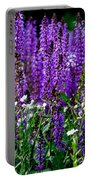 Purple Lavender Flower In Bloom  Portable Battery Charger