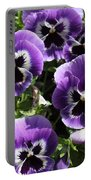 Purple Pansies Square Portable Battery Charger