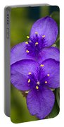 Purple Spiderwort 1 Portable Battery Charger