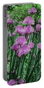 Purple Spikes Portable Battery Charger