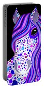 Purple Spotted Horse Portable Battery Charger