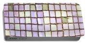 Purple Tiles Portable Battery Charger