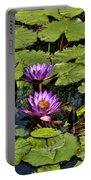 Purple Water Lilies - Nymphaea Capensis  Portable Battery Charger