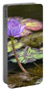 Purple Water Lilly Portable Battery Charger