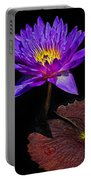 Purple Waterlily Portable Battery Charger