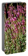 Purple Wild Flowers Portable Battery Charger