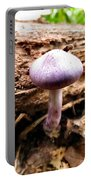Purple Wild Mushroom Portable Battery Charger