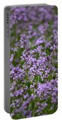 Purple Wildflowers Square Portable Battery Charger