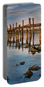 Pylons In Humboldt Bay Portable Battery Charger
