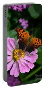 Question Mark Butterfly And Zinnia Flower Portable Battery Charger