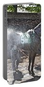 Quick Shower Before The Race Portable Battery Charger