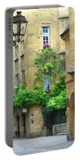 Quiet Street In Sarlat Portable Battery Charger