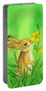 Rabbit And Flower Portable Battery Charger