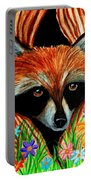 Raccoon And Butterfly Portable Battery Charger