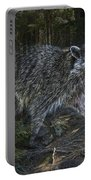 Racoon Emerging From The Woods Portable Battery Charger