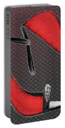 Raging Red Open Toed Stilettos Portable Battery Charger