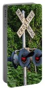 Railroad Crossing Light And Greenery Portable Battery Charger
