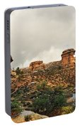 Rain At The Needles District Portable Battery Charger