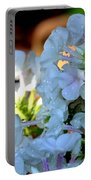 Rain Drenched Phlox Portable Battery Charger