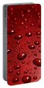 Rain Drops Bloody Red  Portable Battery Charger