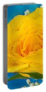 Rain On A Yellow Rose Portable Battery Charger