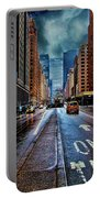 Rain On Park Avenue Portable Battery Charger