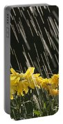 Rain On Yellow Daisies Portable Battery Charger